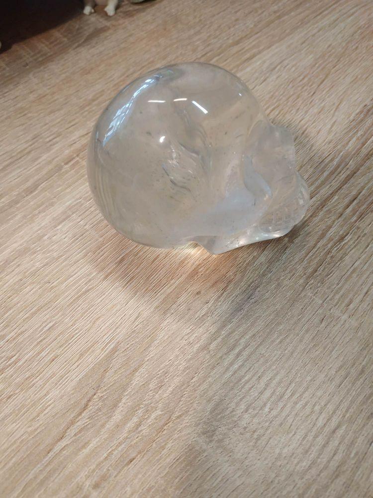 Lebka,Skull,Schädel Křistállova,Crystal 7cm