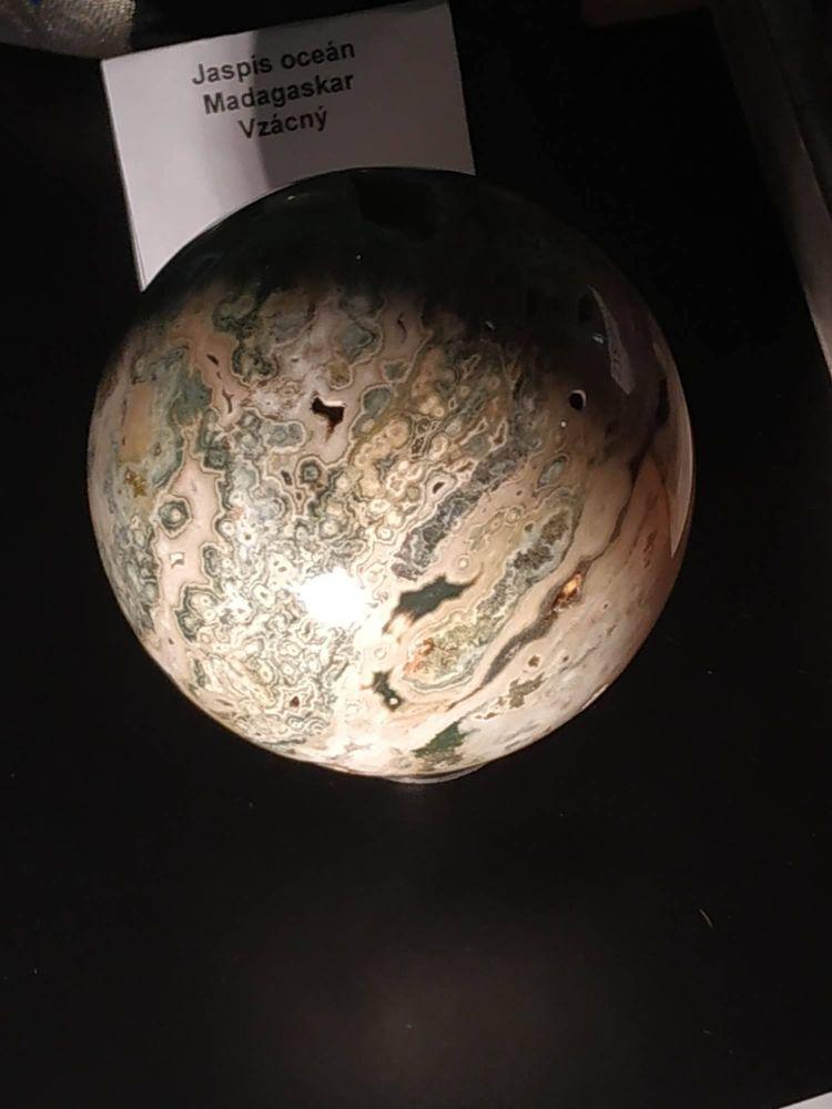 Koule,Sphere,Kugel Jasper,Jaspis,Ocean,Velky,big one, 8cm,3.5inch