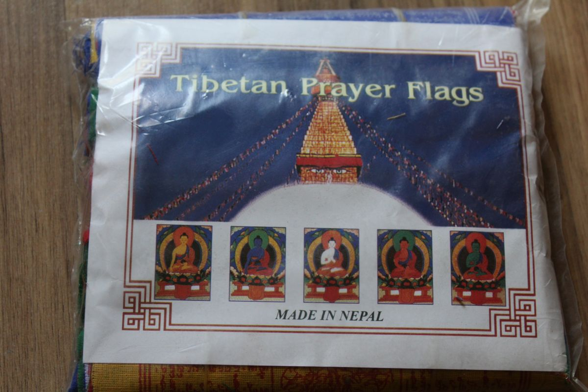 Buddisticky modlící se vlajky/Praying Flags Velky/big 28cm
