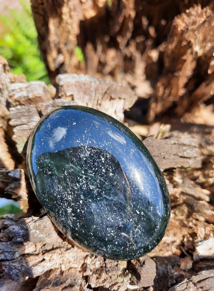 Nefrit /Nephrite Plochy/Soap Stone/Handsch 6cm