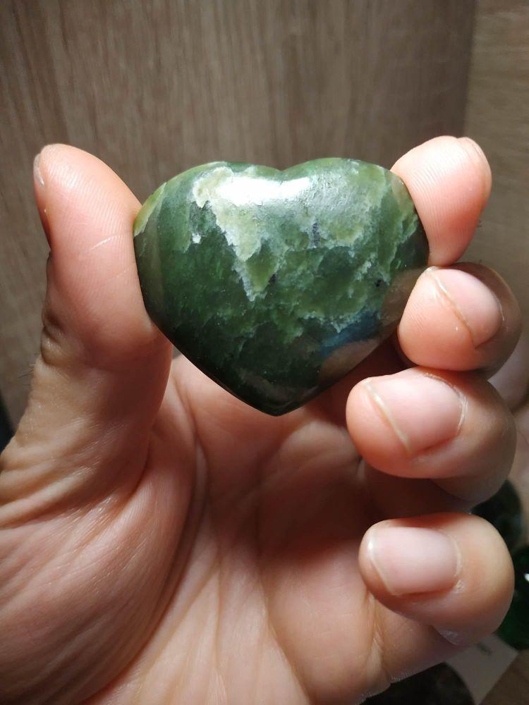 Srdce/Heart/Herz Nefriti 4cm Plochy/Flat