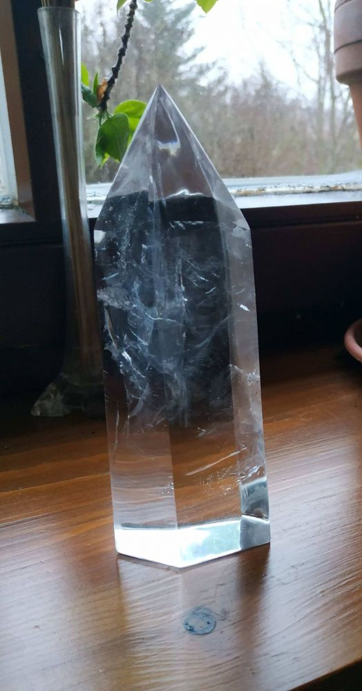 Křistál /Crystal/Bergkristall Obelisk/Věz /Tower 18/19cm velky/big one EXTRA