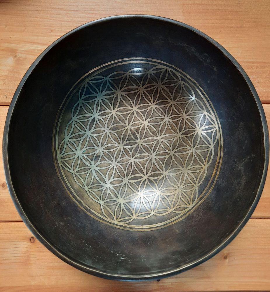 Tibetsky Misa/Singing Bowl Květ života/Flower of life/Blumen des Leben 21,5cm