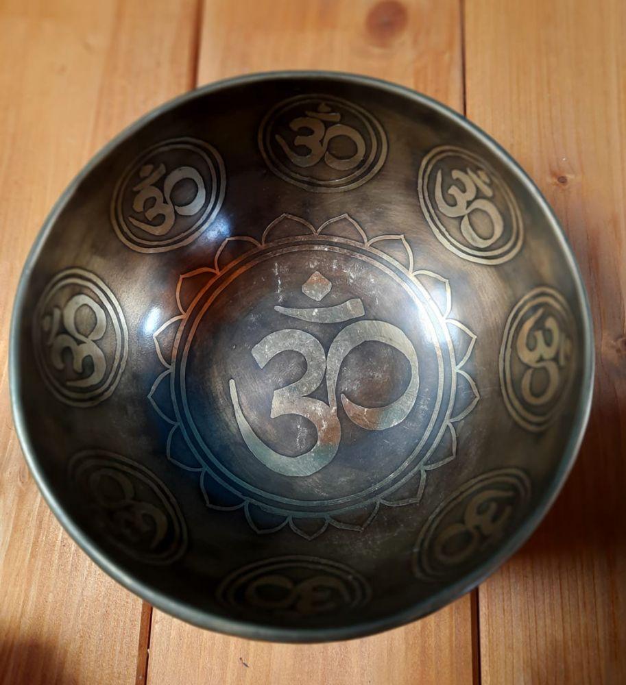 Tibetsky Misa/Singing Bowl Om mantra 19cm