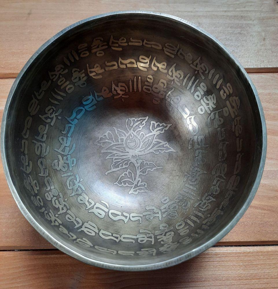Tibetsky Misa/Singing Bowl/Klangschalen Mantra s Lotus 14cm