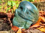 Lebka/Skull/Schädel Zeleny/Green Aventurine 10cm