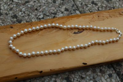 Best Quality Pearl Necklace 8 mm 43 cm ca-last piece