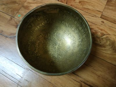 Tibetsky Misa/Singing Bowl/Klangschalen Mantra s Lotus 12cm