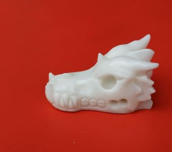 Drak,Dragon,Drache Billy,White,Jadeid,Jade 8cm