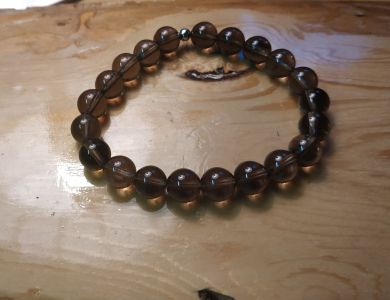 Smoky Quartz Bangle- 8 mm