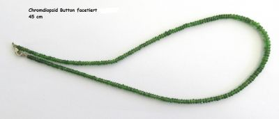 Koralle /Necklace/Halskette Diopside količky/beaded /kugel 4mm